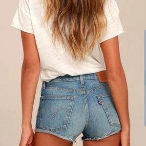 Levi's High Waisted Shorts 25
